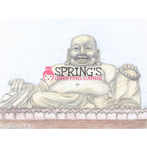 """Happy Buddha, China,"" Print, 8""x11"", $5.85 Ea"