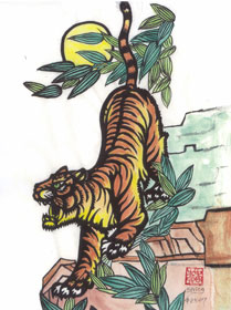 Year of the tiger prints 8 x 11 greeting cards springs add to wishlist loading m4hsunfo