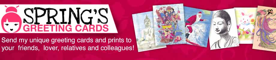 Greeting Cards, Prints & Red Envelopes (Money Holder)